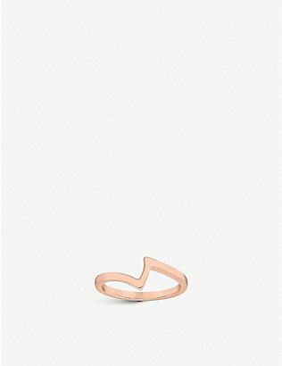 VASHI: Lovestrike 18k rose-gold ring