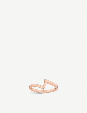 VASHI Lovestrike 18k rose-gold ring