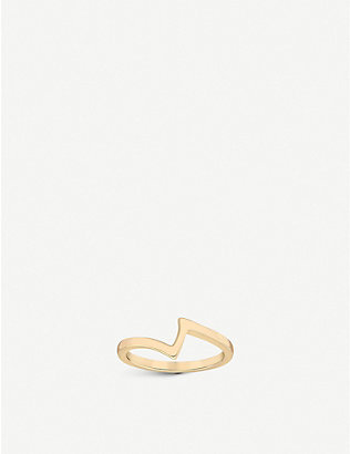 VASHI: Lovestrike 18k yellow-gold ring