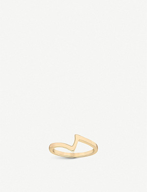 VASHI Lovestrike 18k yellow-gold ring