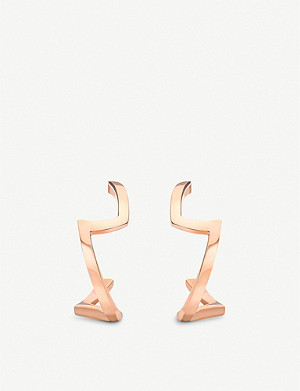 VASHI Lovestrike 18k rose-gold earrings