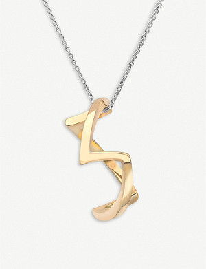 VASHI Curved 18k yellow-gold pendant