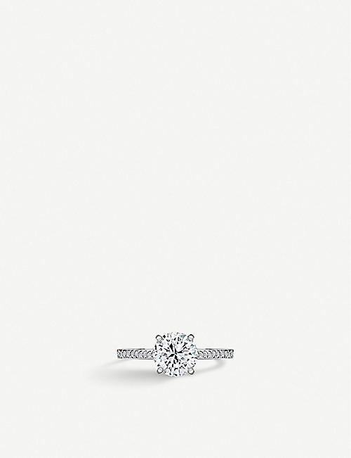 VASHI Classic 18ct white-gold and diamond engagement ring