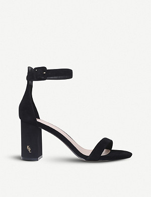 KURT GEIGER LONDON Langley suede heeled sandals
