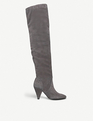 KURT GEIGER LONDON Violet over-the-knee suede boots