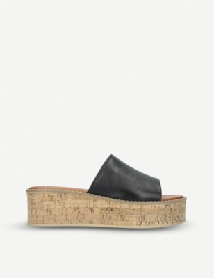 KURT GEIGER LONDON Maci cork-effect sole flatform sandals