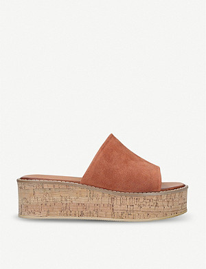 KURT GEIGER LONDON Maci suede Flatform sandals