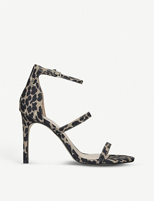 KURT GEIGER LONDON Park Lane leopard-print woven sandals