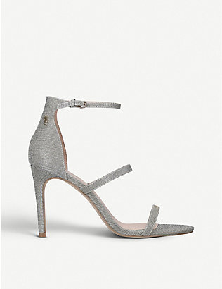 KURT GEIGER LONDON: Park Lane metallic heeled sandals