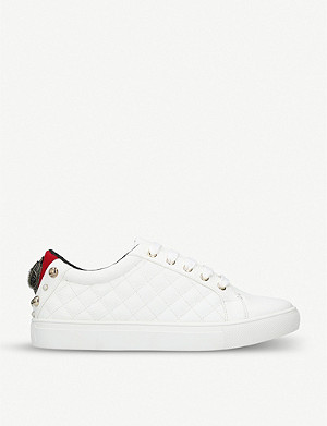 KURT GEIGER LONDON Ludo quilted embellished trainers