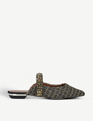 KURT GEIGER LONDON Princely woven mules