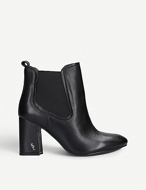 KURT GEIGER LONDON Raylan heeled leather ankle boots