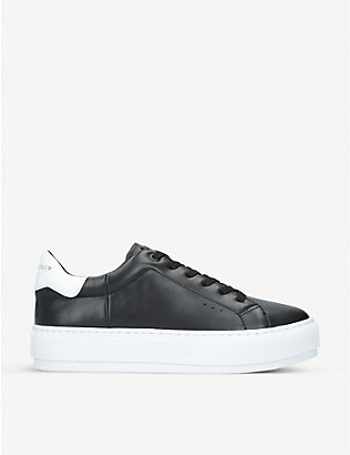 KURT GEIGER LONDON: Laney leather platform trainers