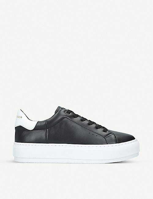 KURT GEIGER LONDON Laney leather platform trainers