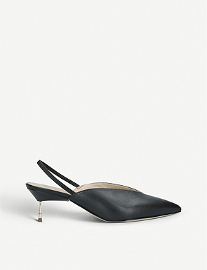 KURT GEIGER LONDON Battersea leather slingback courts