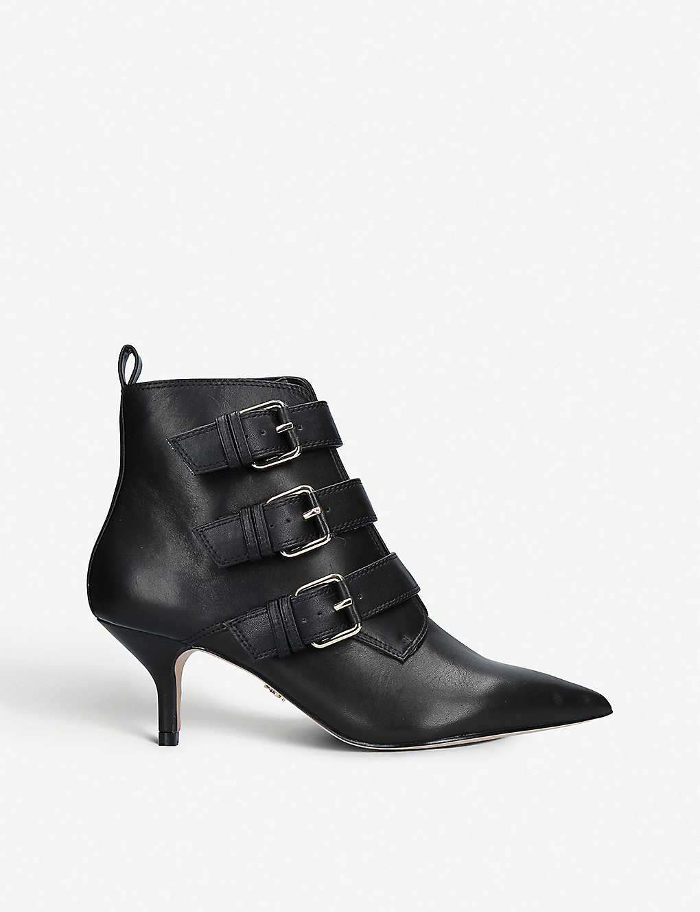 Raya buckled leather ankle boots