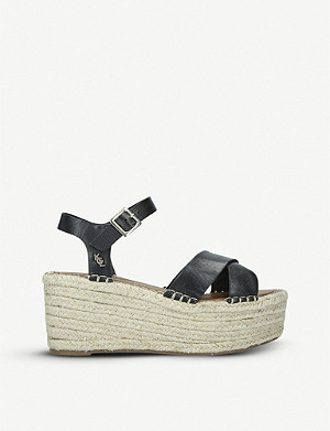KURT GEIGER LONDON Arlo leather platform espadrilles
