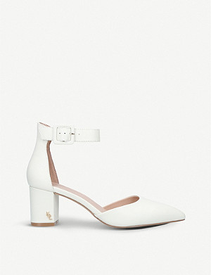 KURT GEIGER LONDON Burlington buckled leather courts