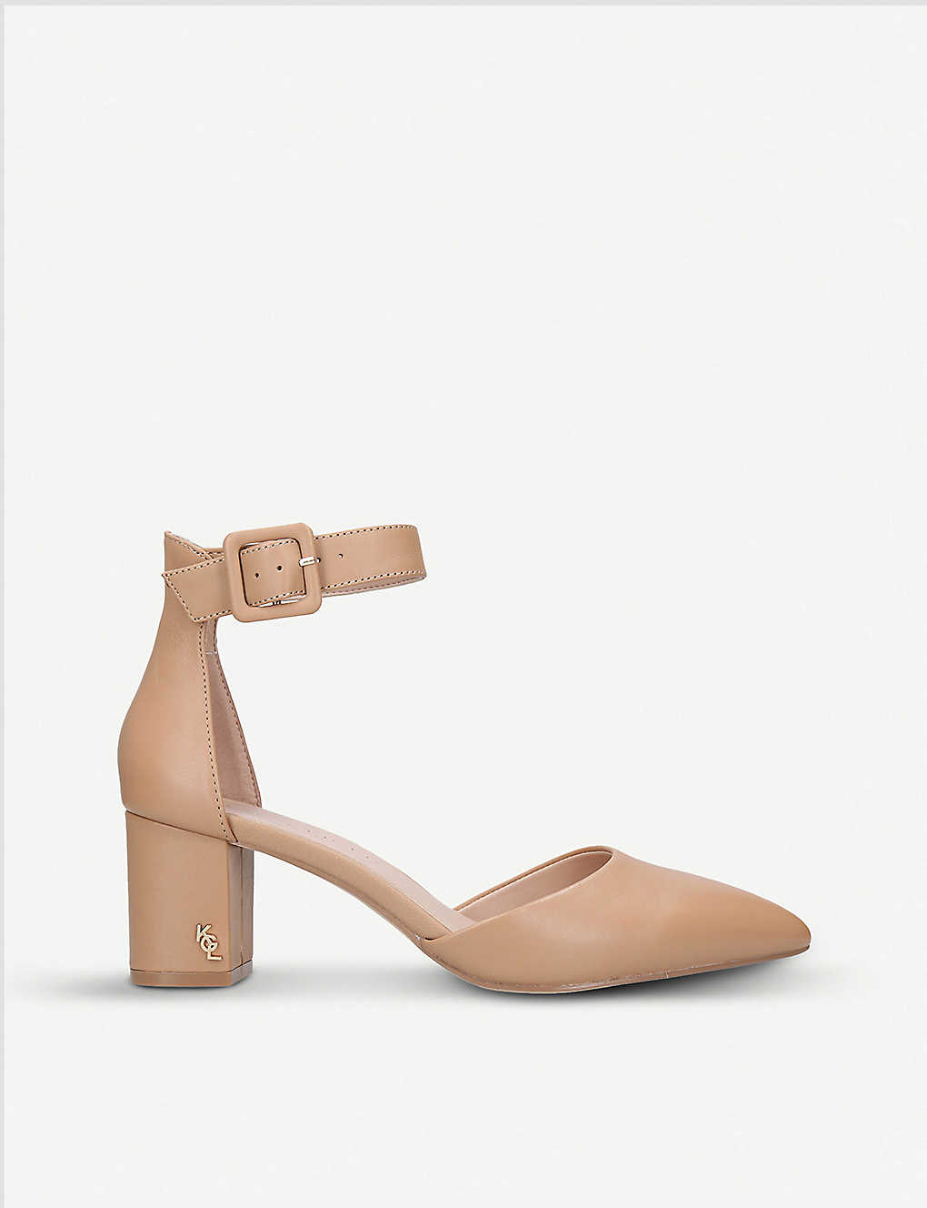 KURT GEIGER LONDON: Burlington buckled leather courts