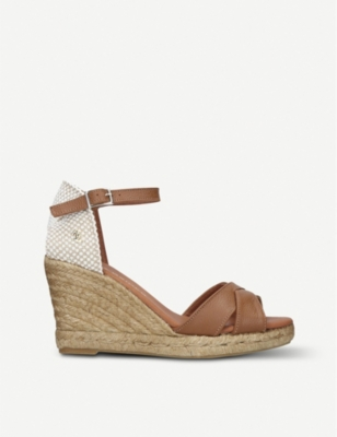 KURT GEIGER LONDON Leona leather espadrilles
