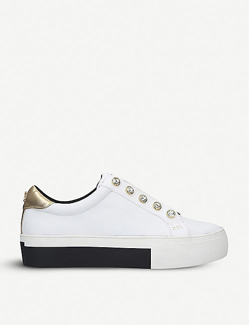 KURT GEIGER LONDON Liviah leather trainers