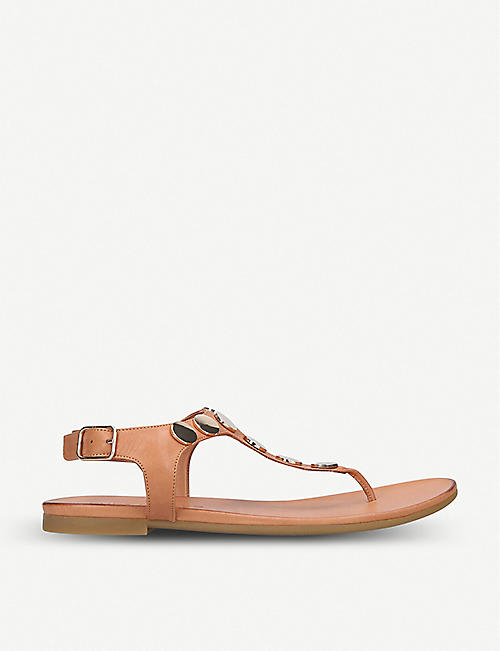 KURT GEIGER LONDON Maddie disc-embellished leather sandals