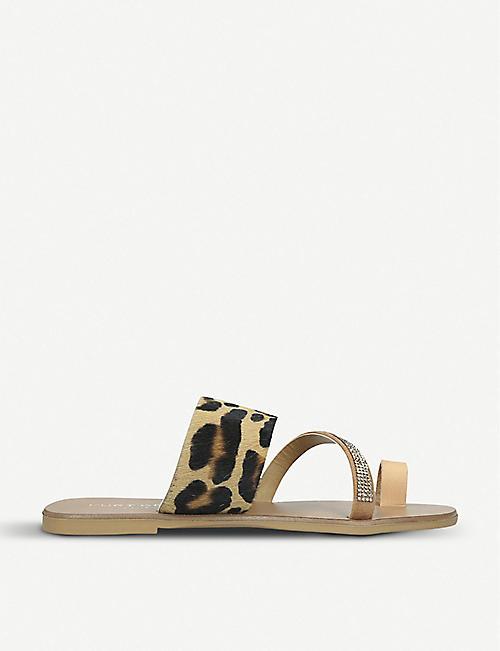 e36ef205e09 KURT GEIGER LONDON Dawn leopard-print leather sandals