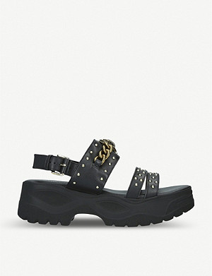 KURT GEIGER LONDON Oden leather sandals