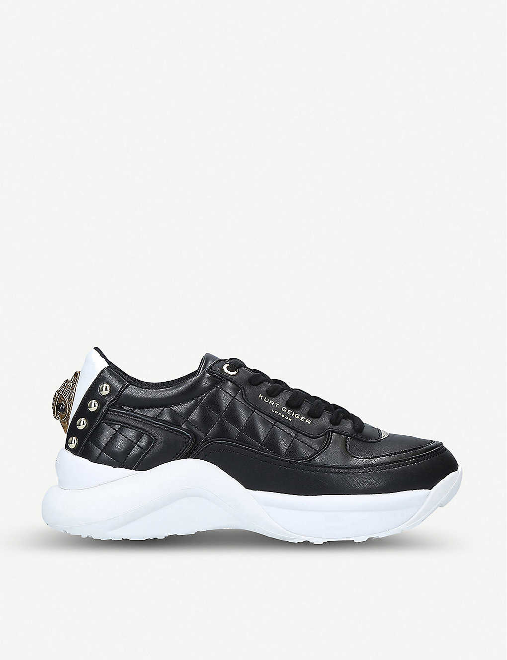 KURT GEIGER LONDON: Lunar Eagle embellished leather trainers