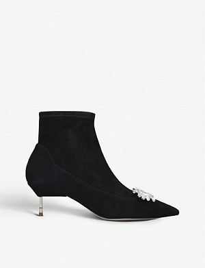 KURT GEIGER LONDON Bellevue suede ankle boots
