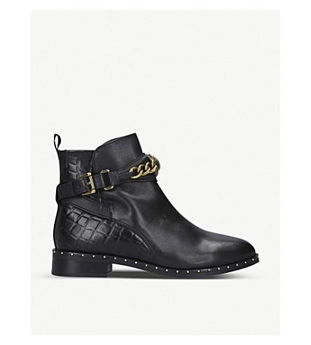 Kurt Geiger London Chelsea Jodhpur Leather Ankle Boots In Black