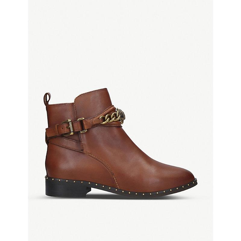Kurt Geiger London Chelsea Jodhpur Leather Ankle Boots In Brown