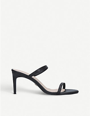 KURT GEIGER LONDON: Petra leather stiletto sandals
