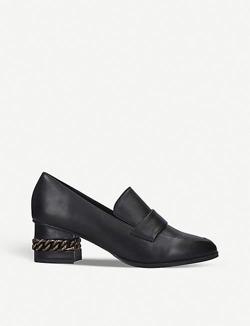 KURT GEIGER LONDON Raquel leather heeled loafers