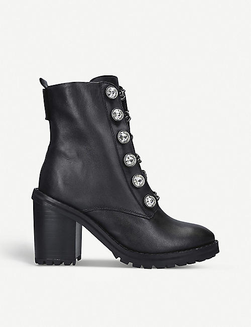 KURT GEIGER LONDON Bax Block leather boots