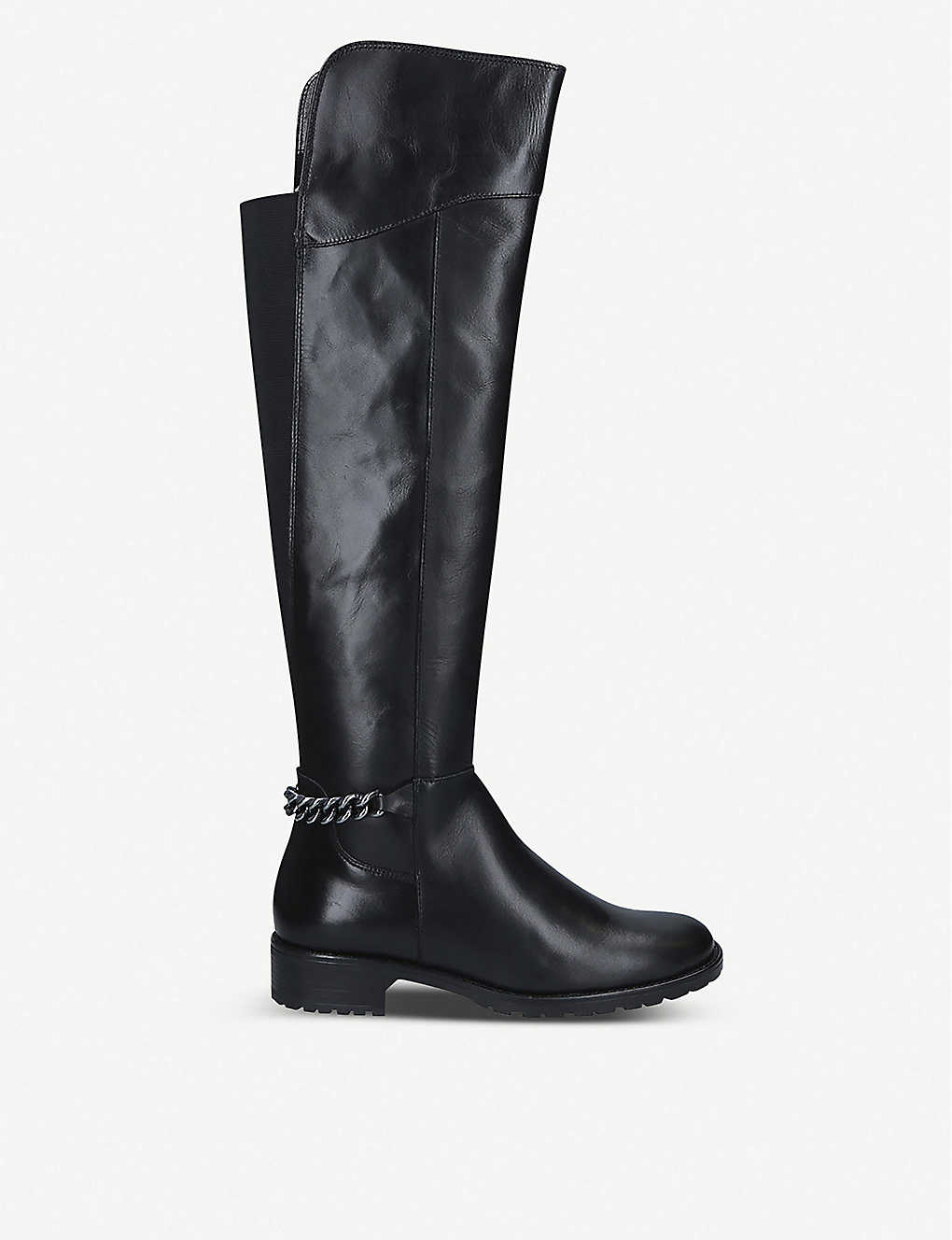 KURT GEIGER LONDON: Valerie over-the-knee leather boots