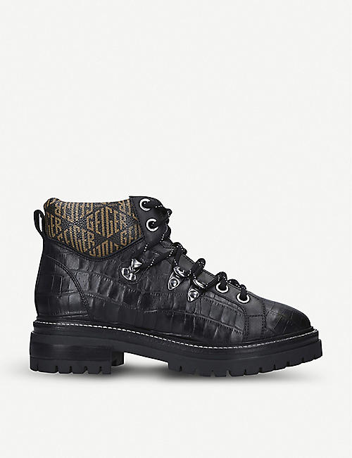 KURT GEIGER LONDON Regency mock-croc leather boots