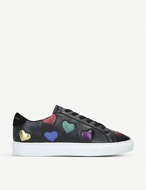 KURT GEIGER LONDON Lane Love heart insert leather trainers