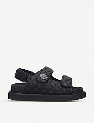 KURT GEIGER LONDON: Orson quilted leather sandals