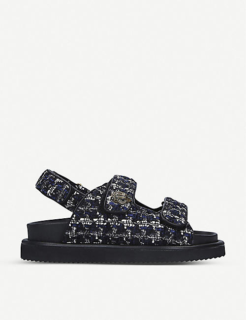 KURT GEIGER LONDON Orson tweed sandals