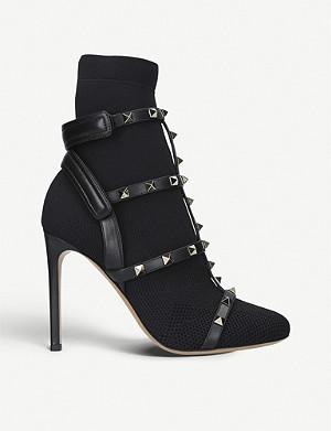 dc25b4e5fd4 VALENTINO - VLTN stretch-knit ankle boots