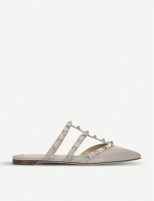 603bd637449 VALENTINO Rockstud leather mules