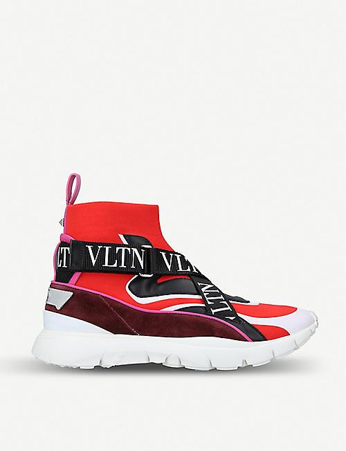 8b82101d1f713c VALENTINO Strap-detail sock trainer
