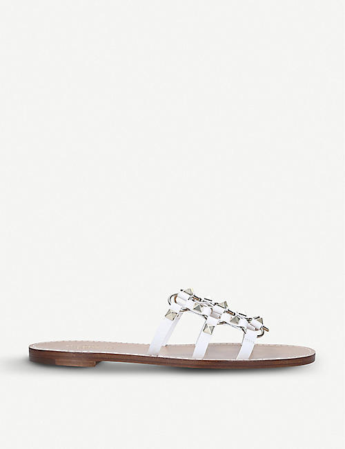 f5bf9a0832cf VALENTINO Rockstud Cage leather sandals
