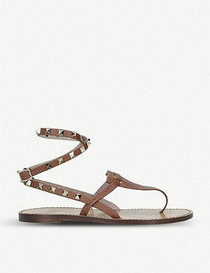 VALENTINO Rockstand ankle strap leather sandals