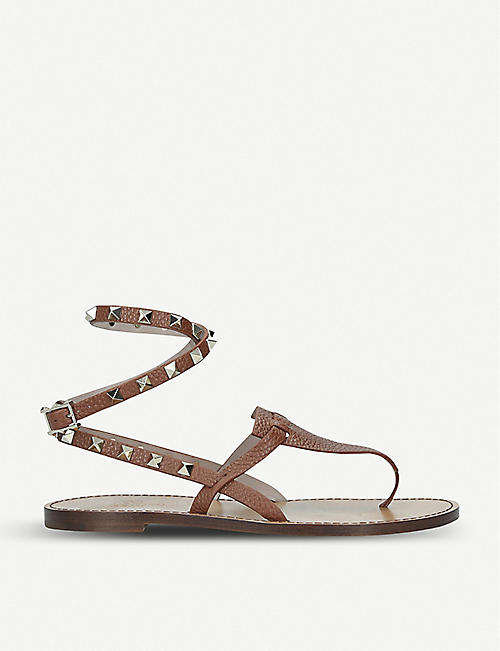 f0bd4e597f41 VALENTINO Rockstand ankle strap leather sandals