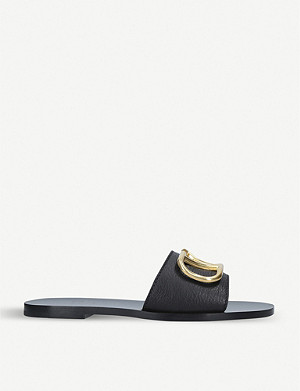 VALENTINO Go-logo leather slider sandals