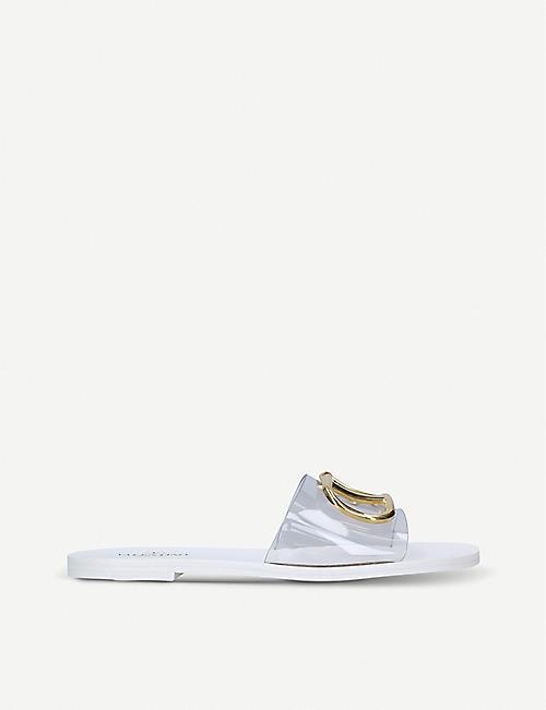 f932d722ced2 VALENTINO Go-logo transparent slider sandals