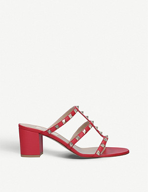 VALENTINO Rockstud leather mules