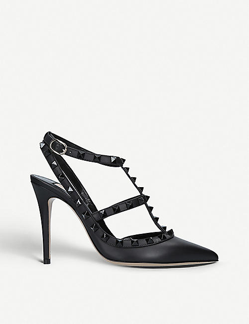 818859788bb31 VALENTINO So Noir 100 studded leather courts